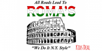 SUN & WED: Roma's Pizza Family Deal